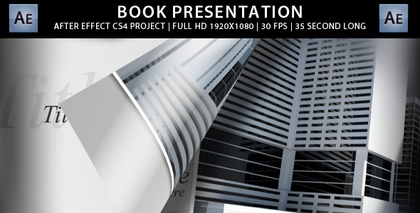 After Effects Project - VideoHive Book Presentation CS4 Project 155346