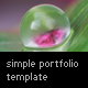 Simple Portfolio Template - ActiveDen Item for Sale