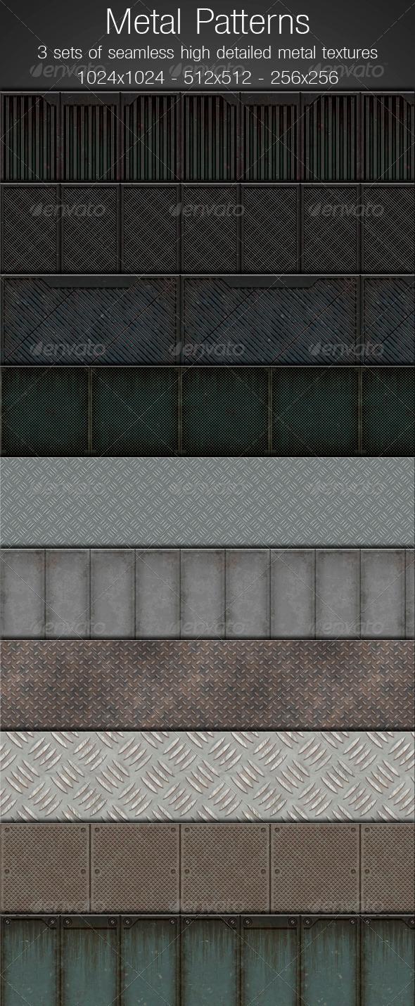 GraphicRiver Metal Patterns 1292958