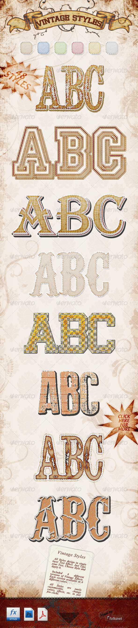 Graphic River Vintage Styles Add-ons -  Photoshop  Styles  Text Effects 757929