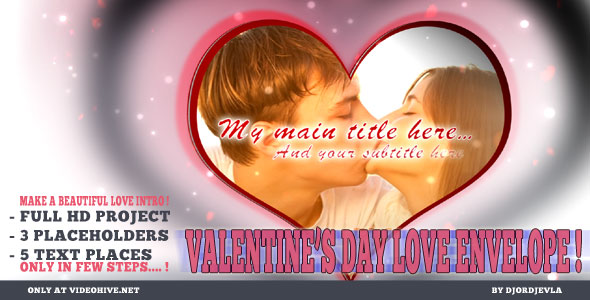 After Effects Project - VideoHive Valentine's Day Love Envelope 155570