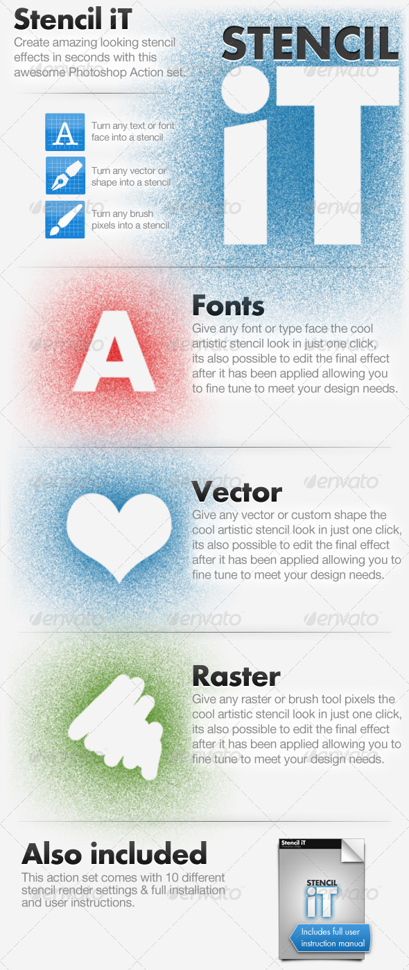 GraphicRiver Stencil iT Stencil Creating Photoshop Action Set 155675
