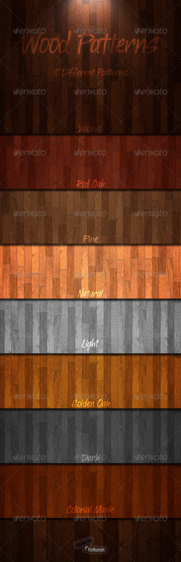 Graphic River Wood Patterns 1.0 Add-ons -  Photoshop  - / Fills / Patterns 803883