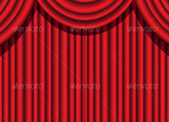 GraphicRiver red curtain 51799