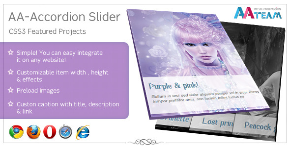 CodeCanyon AA-Accordion Slider CSS3 Featured Projects 1299052