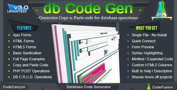 CodeCanyon Database Code Generator 699415