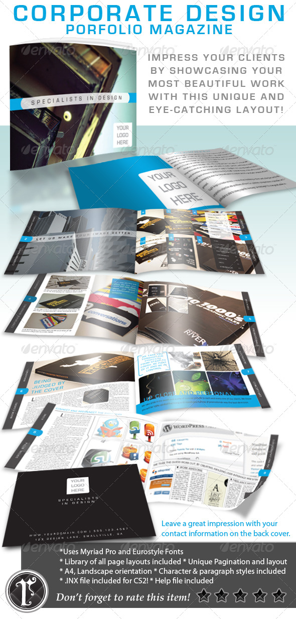 GraphicRiver Corporate Design Portfolio Magazine 156484