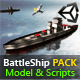 BattleShip PACK: Model + Scripts for Unity3D - ActiveDen Item for Sale