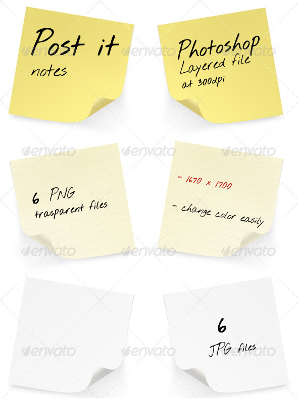 GraphicRiver Post it Pack 157179