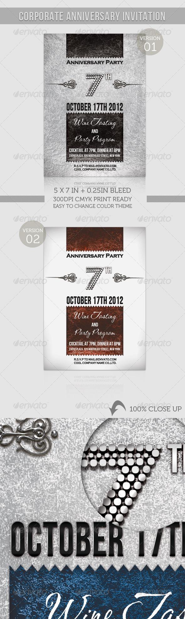 GraphicRiver Corporate Anniversary Invitation 1294625