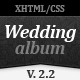 Wedding Album Premium xHTML/CSS Template - ThemeForest Item for Sale