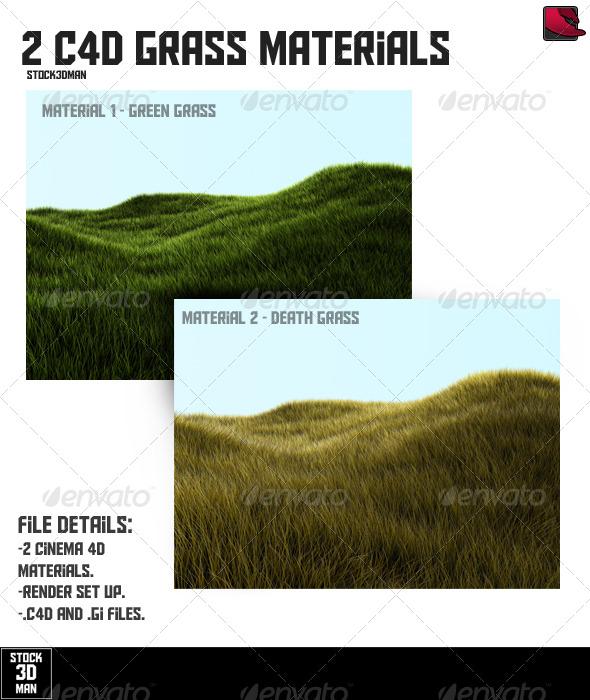 3DOcean 2 Cinema 4D Grass Materials 157710
