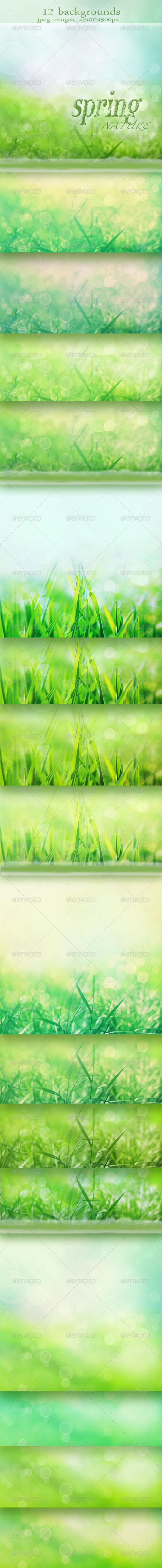 GraphicRiver Nature Spring Backgrounds with Bokeh Effect 1293733