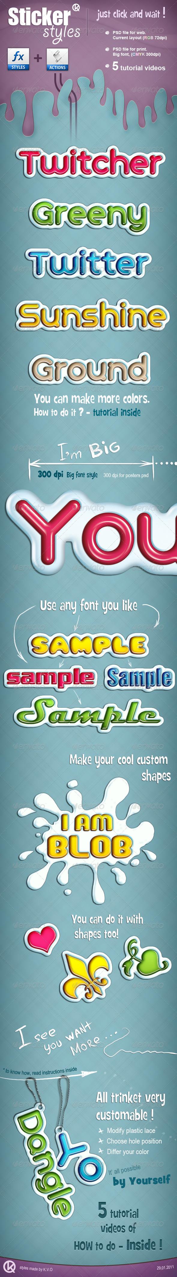 GraphicRiver Sticker Styles 158010