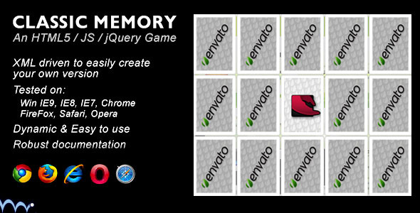 CodeCanyon Classic Memory Game 1318202