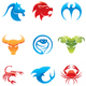 colorful animal icons - GraphicRiver Item for Sale