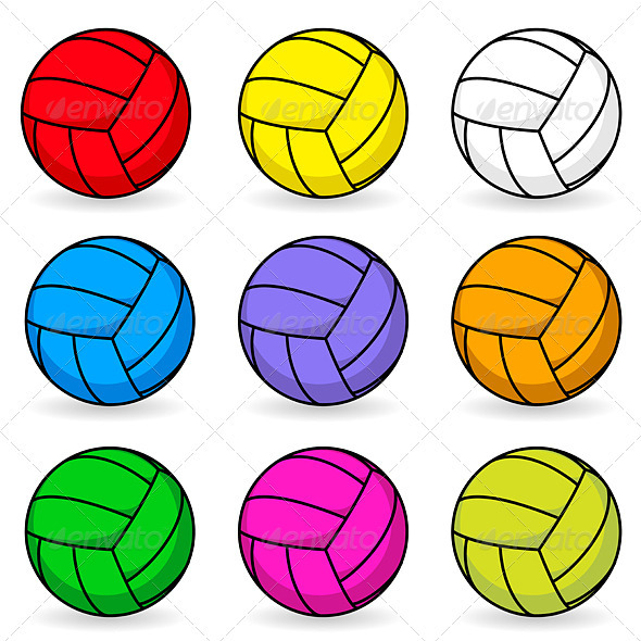 volleyball clipart vector-#47