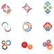 colourful cog icons - GraphicRiver Item for Sale