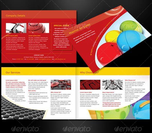 GraphicRiver A5 landscape 4 page brochure 52507