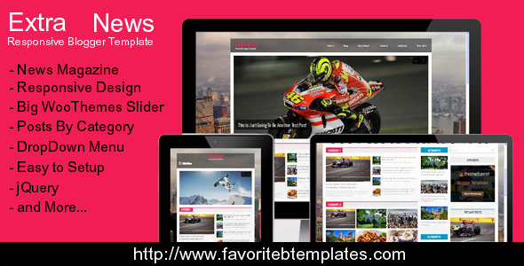 Extra news magazine blogger template by fbtemplates for Design your own blogger template free