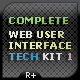 TECH WEB USER INTERFACE KIT - GraphicRiver Item for Sale
