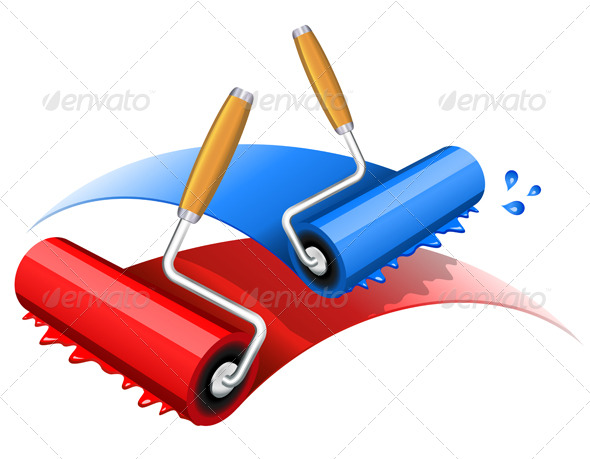 GraphicRiver Painting red and blue 158445