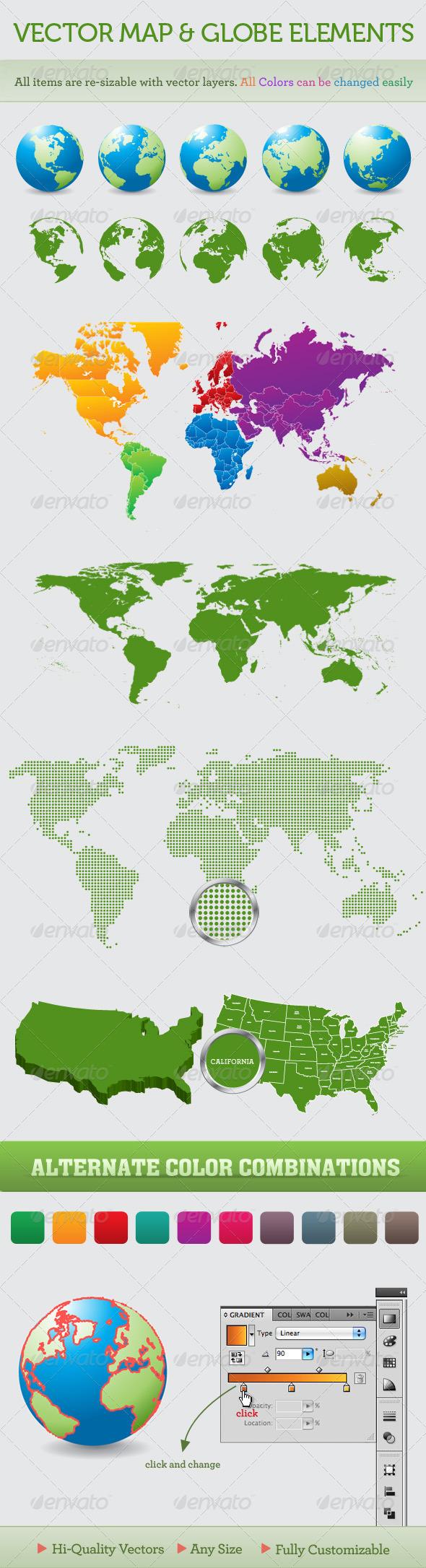 GraphicRiver World Maps & Globes 99047