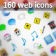160 Cool Web Icons - GraphicRiver Item for Sale
