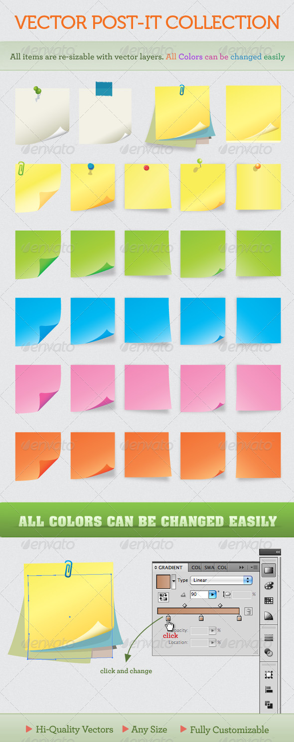 GraphicRiver Notes and post-it collection 112025