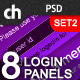 8 Modern & Web 2.0 Login/Signup Panels (SET 2) - GraphicRiver Item for Sale