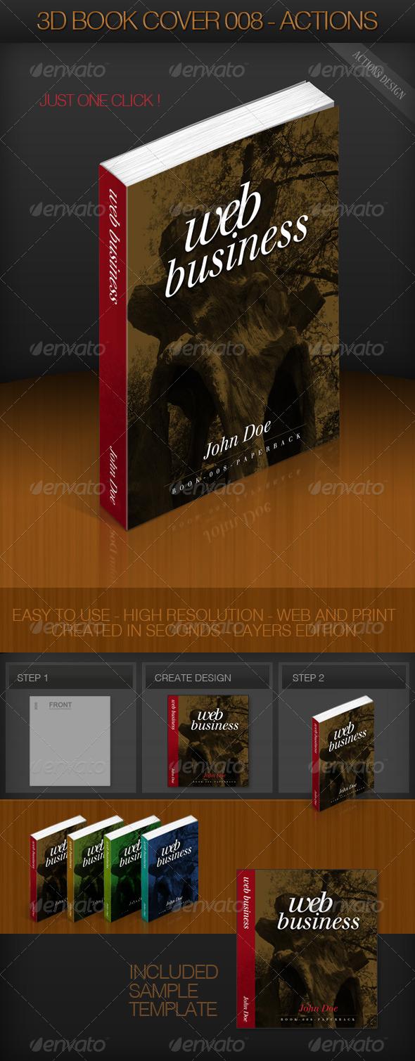 GraphicRiver 3D Book Cover 008 Paperback 159023