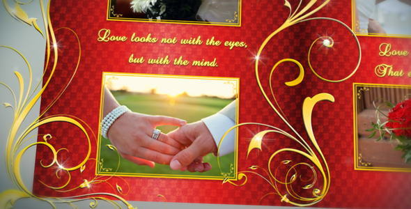 After Effects Project - VideoHive Wedding Album Gold Flourish 159024