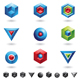 3d cubes and triangles - GraphicRiver Item for Sale