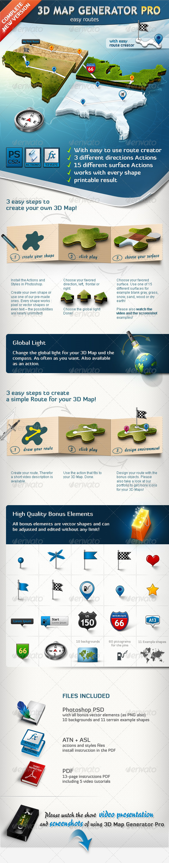 GraphicRiver 3D Map Generator Pro Easy Routes 1328869
