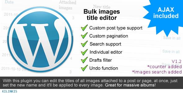 CodeCanyon Bulk Images Title Editor 1181714