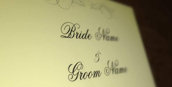 After Effects Project - VideoHive Wedding Invitation 159199