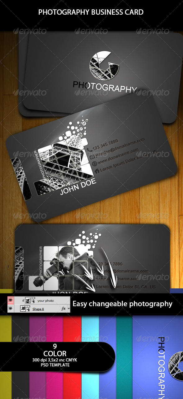 GraphicRiver Photography Business Card 159202
