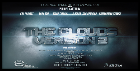 After Effects Project - VideoHive The Clouds 2 Two Bonus Logo Reveals 15928 ...