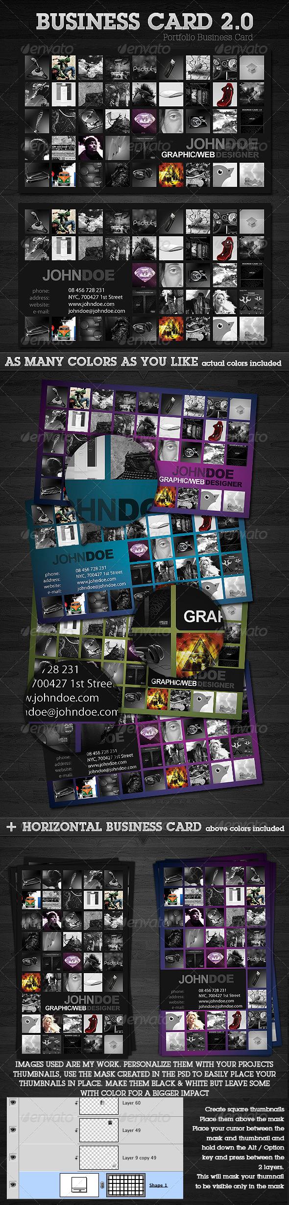 GraphicRiver Portfolio Business Card 2.0 88730