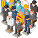 Isometric Peoples - GraphicRiver Item for Sale