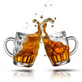 Beer splash in glass isolated on white - PhotoDune Item for Sale