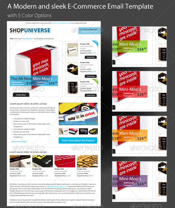 GraphicRiver A Modern and sleek E-Commerce Email Template PSD 159443