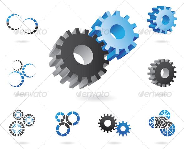 GraphicRiver 3D cogs 52906