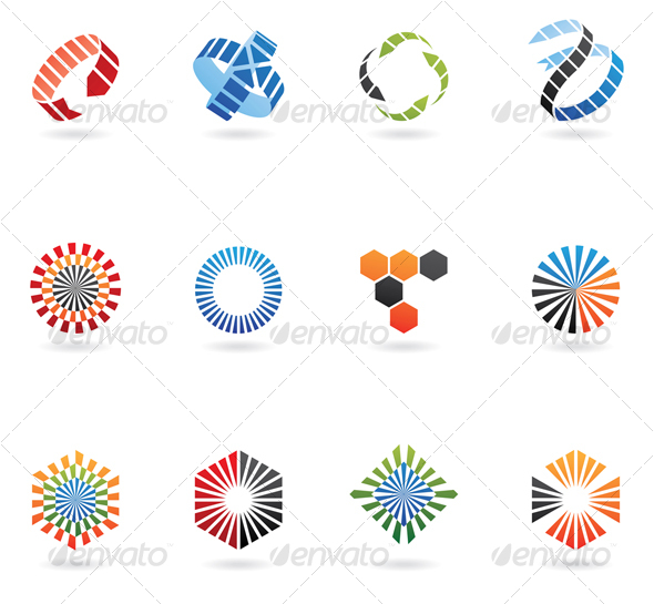 Graphic River abstract arrow icons Icons -  Abstract 51563