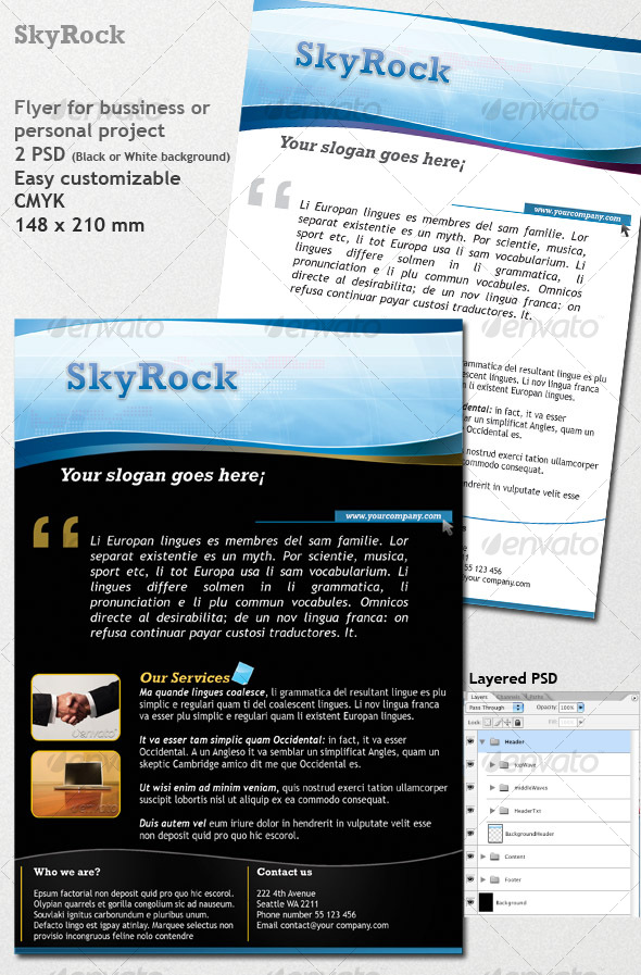 GraphicRiver SkyRock Flyer 52226