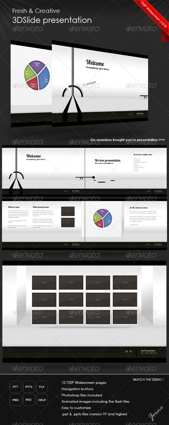 GraphicRiver Fresh 3DSlide Presentation HD 124594