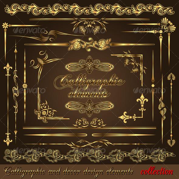 GraphicRiver Gold calligraphic design elements vol2 159935