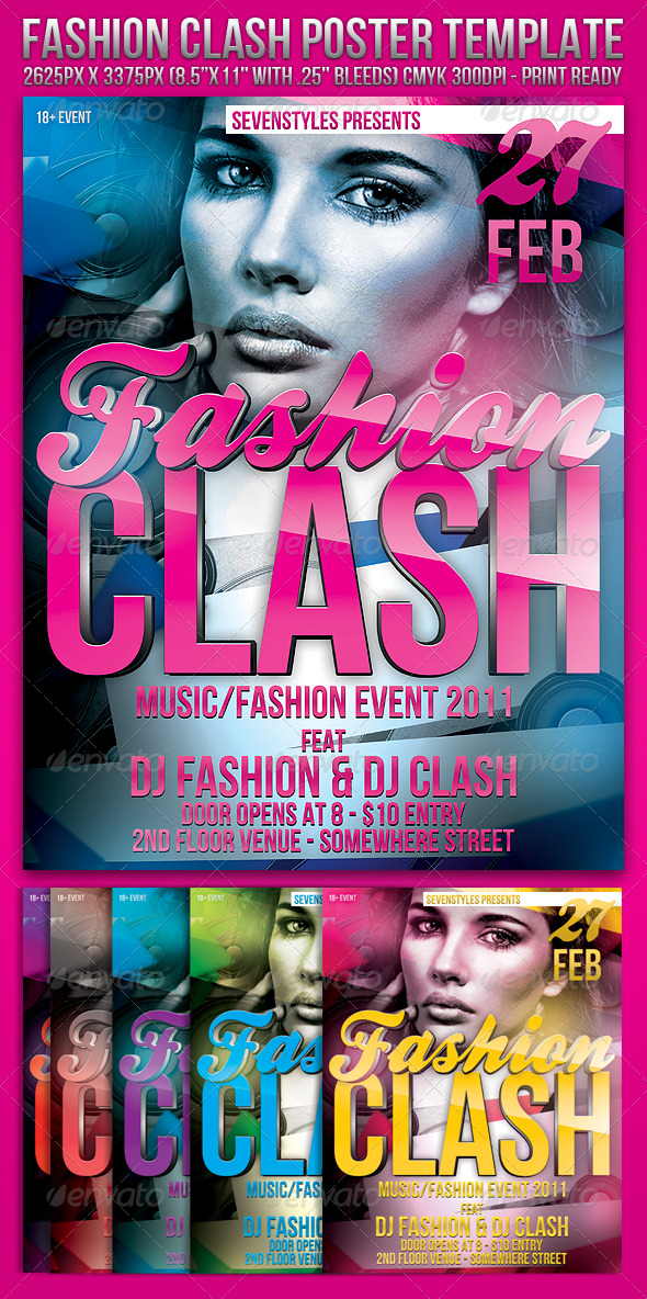 GraphicRiver Fashion Clash Template 160279