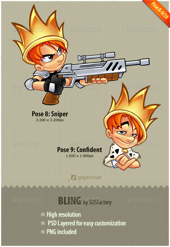 GraphicRiver Bling Series 8-9 Sniper and Confident 160447