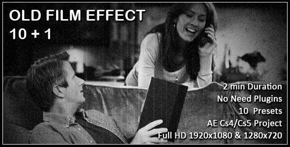 After Effects Project - VideoHive Old Film Effect Pack 160644